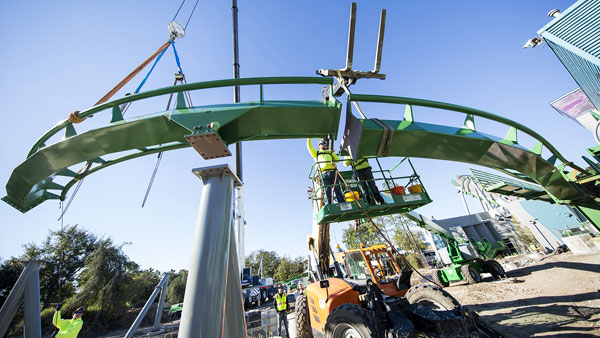 The Incredible Hulk Coaster Begins Its Return