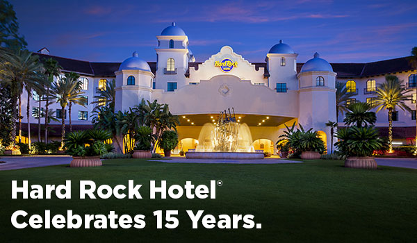 Hard Rock Hotel Celebrates 15 Years
