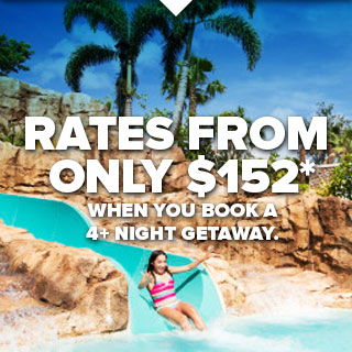 RATES FROM ONLY $152** When You Book A 4+ Night Getaway.