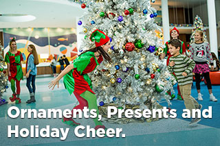 Ornaments, Presents and Holiday Cheer.