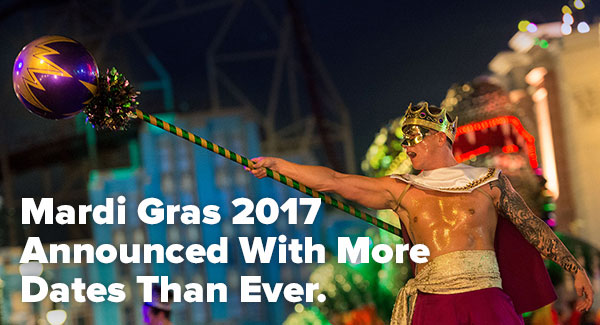 Mardi Gras 2017 Announced With More Dates Than Ever.