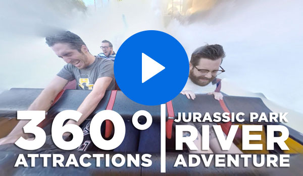 360 Attractions | Jurassic Park River Adventure
