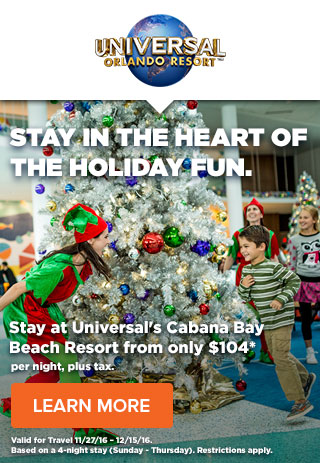 STAY IN THE HEART OF THE HOLIDAY FUN.